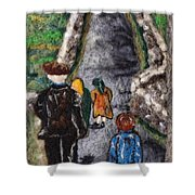 Aran Island Walk Shower Curtain