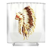 Arapaho War Bonnet Shower Curtain