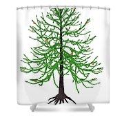 Araucaria Prehistoric Tree Shower Curtain