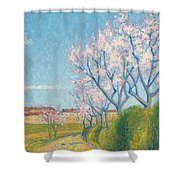 Arbes En Fleurs A L'entree De Cailhavel Shower Curtain