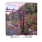 Arbor And Fall Colors 2 Shower Curtain