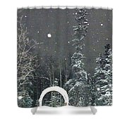 Arc De Neige  Shower Curtain