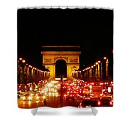 Arc De Triomphe At Night Shower Curtain