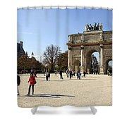 Arc De Triomphe Du Carrousel In Paris France  Shower Curtain