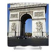 Arc De Triomphe In Paris France Shower Curtain