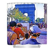 Arc De Triomphe Painter Shower Curtain by Chuck Staley