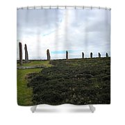 Arc Of Stones At The Ring Of Brodgar Shower Curtain