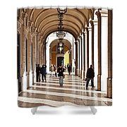 Arcades Of Lisbon Shower Curtain