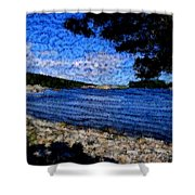 Arcadia Maine Abstract Shower Curtain