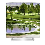 Arcadia Valley Country Club Dramatic Shower Curtain