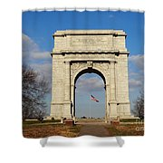 Arch At Valley Forge Shower Curtain