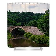 Arch Bridge Across Casselman River Shower Curtain