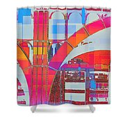 Arch Five  - Architecture Of New York City Shower Curtain