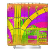 Arch Four - Architecture Of New York City Shower Curtain