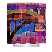 Arch One - Architecture Of New York City Shower Curtain