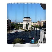 Arch Morning View Shower Curtain