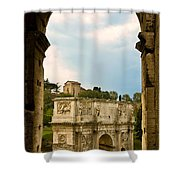 Arch Of Constantine Through The Colosseum Shower Curtain