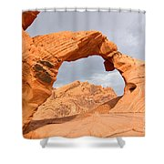 Arch Rock In The Valley Of Fire State Park In Nevada Shower Curtain