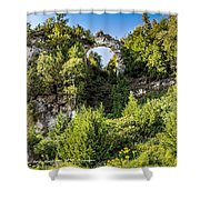 Arch Rock Mackinac Island Michigan Shower Curtain