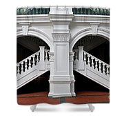 Arch Staircase Balustrade And Columns Shower Curtain