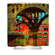 Arch Two - Architecture Of New York City Shower Curtain