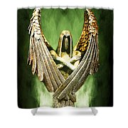 Archangel Azrael Shower Curtain
