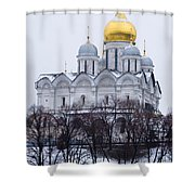 Archangel Cathedral Of Moscow Kremlin - Featured 3 Shower Curtain
