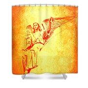 Archangel Michael  Shower Curtain by Lali Kacharava