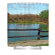 Arched Bridge Shower Curtain