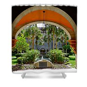 Arched Courtyard Shower Curtain