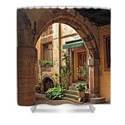 Arched Doorway In Kayserberg Shower Curtain