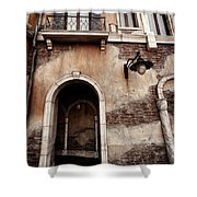 Arched Passage In Old Rustic Venetian House Shower Curtain