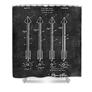 Archery Hunting Arrows Patent Shower Curtain
