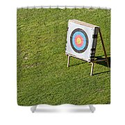 Archery Round Target On A Stand Shower Curtain