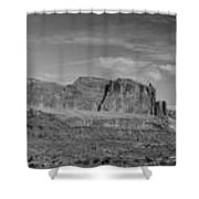 Arches 1 Panorama Bw Shower Curtain