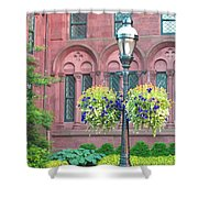 Arches And Potted Plants Shower Curtain