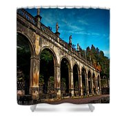 Arches And Statues Shower Curtain