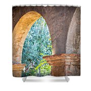 Arches At Mission San Juan Capistrano Shower Curtain