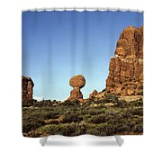 Arches National Park With Balanced Rock And Rock Formations Shower Curtain