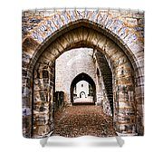 Arches Of Valentre Bridge In Cahors France Shower Curtain