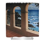 Arches Over The Ocean Shower Curtain