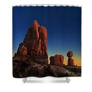Arches After Sunset Shower Curtain