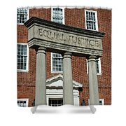 Architectural Columns With Equal Justice Shower Curtain
