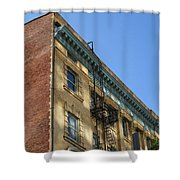 Architectural Watercolor Effect Shower Curtain