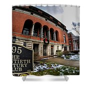Architecture And Places In The Q.c. Series 01 The Twentieth Century Club Shower Curtain