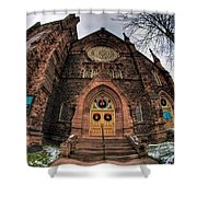 Architecture And Places In The Q.c. Series 01 Trinity Episcopal Church Shower Curtain