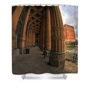 Architecture And Places In The Q.c. Series 03 City Hall Shower Curtain
