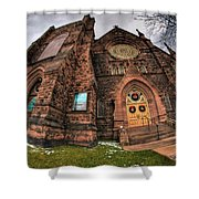 Architecture And Places In The Q.c. Series 03 Trinity Episcopal Church Shower Curtain