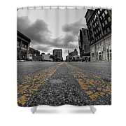 Architecture And Places In The Q.c. Series Delaware And Chippewa Shower Curtain