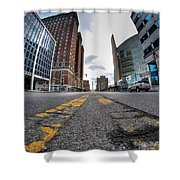 Architecture And Places In The Q.c. Series Delaware To Heart Of Queen City Shower Curtain